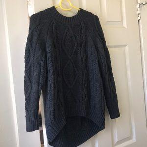 Fancy collection knitwear grey sweater